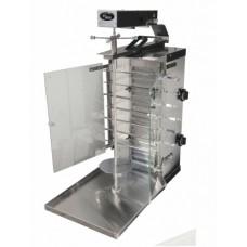 Газовый гриль для шаурмы Ф2ШмГ с мотором и стеклянными экранами Гриль Мастер