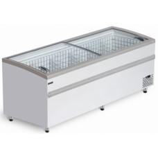 Морозильная ларь-бонета Bonvini BFG 2500 с гнутыми стеклами СНЕЖ
