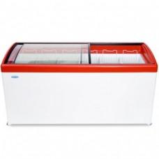 Холодильный ларь СНЕЖ МЛГ-600 с гнутым стеклом