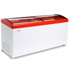 Холодильный ларь СНЕЖ МЛГ-700 с гнутым стеклом