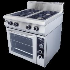 Плита газовая 4-х горелочная Ф4ПДГ/800 с газовой духовкой Гриль Мастер