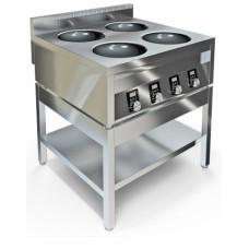 Плита индукционная четырехконфорочная ИПВ-410115 ВОК Техно-ТТ
