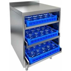 Стол для посудомоечных корзин с бортом HICOLD НБМКБ