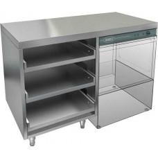 Стол открытый под посудомоечную машину и корзины, без борта HICOLD НБМКБКП