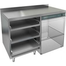 Стол открытый под посудомоечную машину и корзины, с бортом HICOLD НБМКБКП