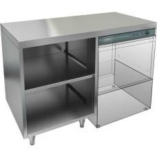 Стол открытый под посудомоечную машину с полкой, без борта HICOLD НБМСЗОКП