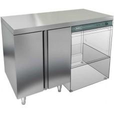 Стол закрытый под посудомоечную машину с полкой, без борта HICOLD НБМСЗКП