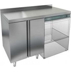 Стол закрытый под посудомоечную машину с полкой, бортом HICOLD НБМСЗКП