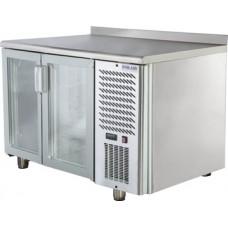 Холодильный стол POLAIR TD2-G со стеклянными дверьми Полаир