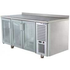 Холодильный стол POLAIR TD3-G со стеклянными дверьми Полаир