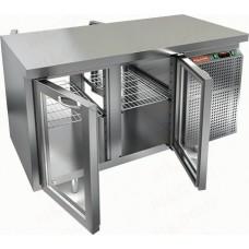 Охлаждаемый стол HICOLD GNG T 11 HT со сквозными стеклянными дверями