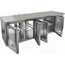 Охлаждаемый стол HICOLD GNG T 1111 HT со сквозными стеклянными дверями