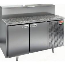 Охлаждаемый стол PZ2-11/GN 1/6H с гранитной столешницей HICOLD для пиццы