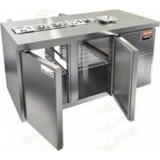Охлаждаемый стол SL2T-11/GN 1/6 HiCold для салатовсаладетта сквозной
