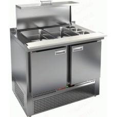 Охлаждаемый стол SLE3-11GN полипропилен HiCold для салатовсаладетта